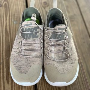 Nike Shoes - Womens Nike running shoes. Olive green. Size 7.